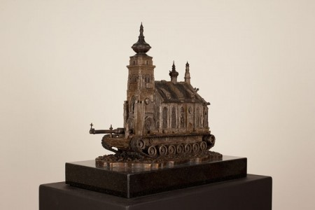 An Artist Superimposes The World Of War With That Of Religion By Making church-Tanks-5
