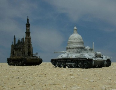 An Artist Superimposes The World Of War With That Of Religion By Making church-Tanks-8