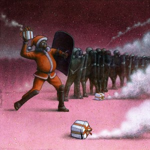 Pawel Kuczynksi satirical illustrations denounce the horrors and paradoxes of the modern world-12