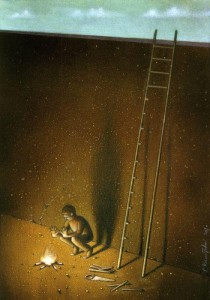 Pawel Kuczynksi satirical illustrations denounce the horrors and paradoxes of the modern world-15