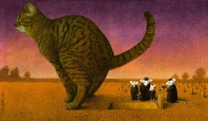 Pawel Kuczynksi satirical illustrations denounce the horrors and paradoxes of the modern world-16