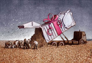 Pawel Kuczynksi satirical illustrations denounce the horrors and paradoxes of the modern world-18