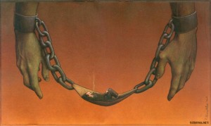 Pawel Kuczynksi satirical illustrations denounce the horrors and paradoxes of the modern world-7