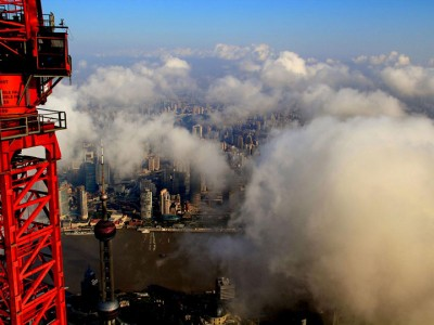 The Beauty Of Shanghai Revealed From A Crane At Height Of 600 Meters-13