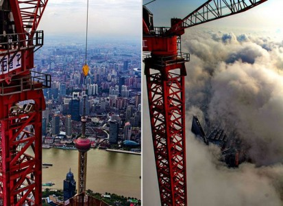 The Beauty Of Shanghai Revealed From A Crane At Height Of 600 Meters-5