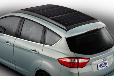 C-Max Energi Solar: Ford's New Electric Hybrid Concept Car Recharged By Solar Panels-5