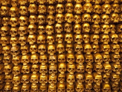 Top 14 Creepy Monuments Erected With Human Bones And Skulls-33
