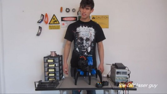 A Hobbyists Make A Drone Bot By Fitting A Robot With Death Ray Laser-2