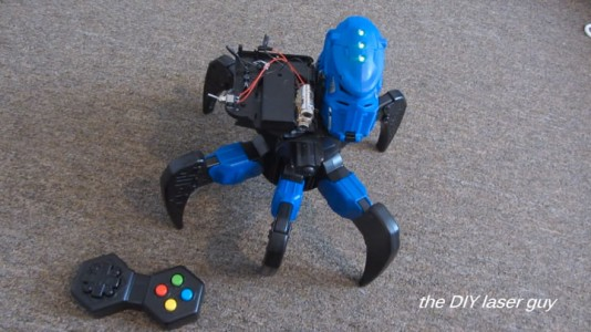A Hobbyists Make A Drone Bot By Fitting A Robot With Death Ray Laser-3