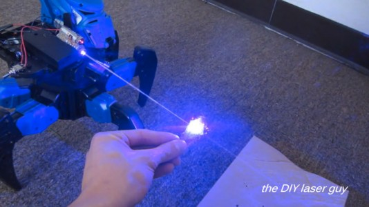 A Hobbyists Make A Drone Bot By Fitting A Robot With Death Ray Laser-7