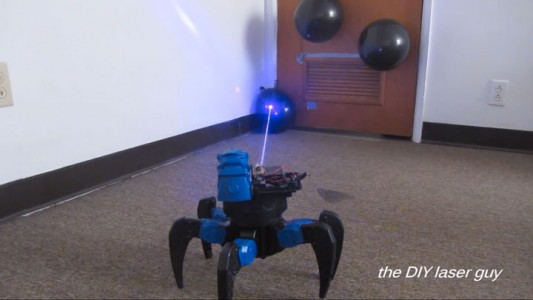 A Hobbyists Make A Drone Bot By Fitting A Robot With Death Ray Laser-8