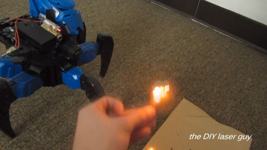 A Hobbyists Make A Drone Bot By Fitting A Robot With Death Ray Laser-9