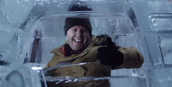 Embark On A Truck Made From Carved Ice -Canadian Tire-