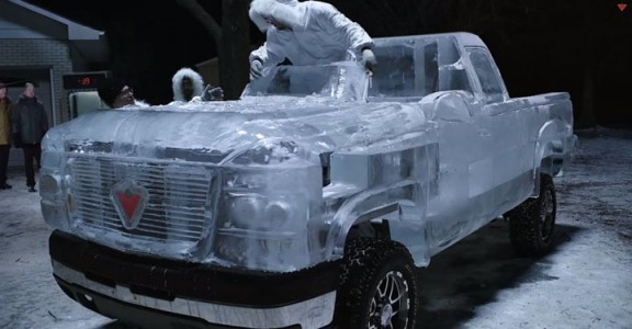 Embark On A Truck Made From Carved Ice -Canadian Tire-1