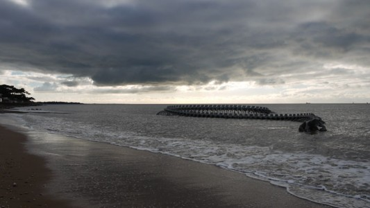 A Giant Aluminium Made Skeleton Of Serpent On the Beach of Loire, France-15