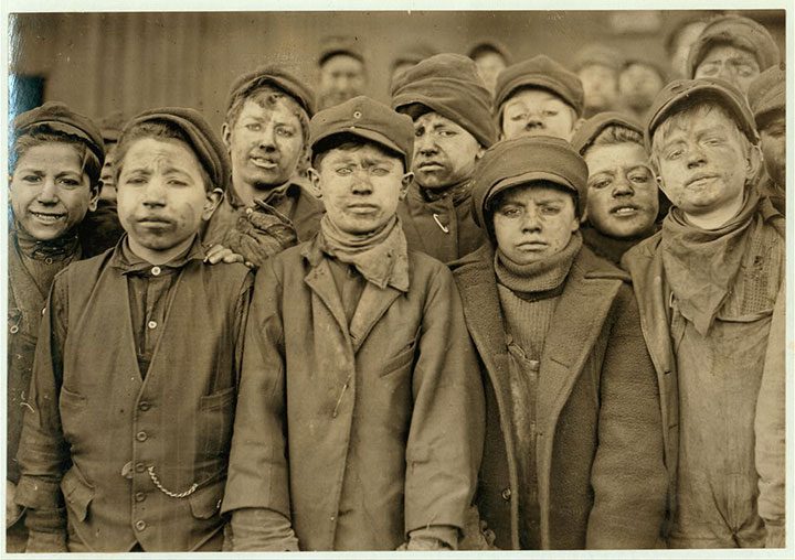 Miners in Pittston, PA-Child Labourers-