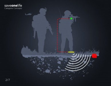 SaveOneLife system: Lemur Studio Fits Shoes With A Mine Detector-1