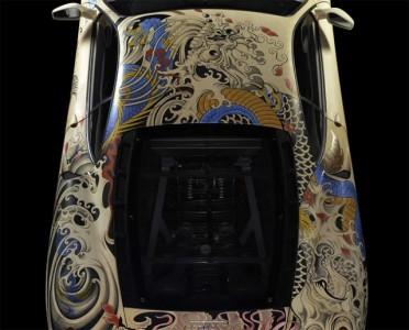 See The Shining Colours Of Beautiful Tattooed Ferrari -6