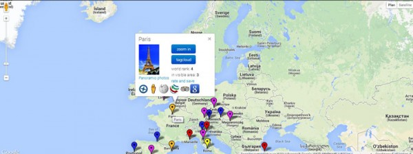 Sightmap: Use Google's Interactive MAP To Discover World's Most Photographed Places -2