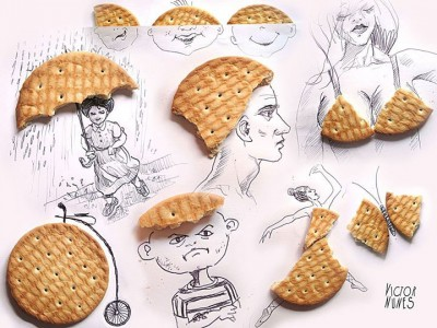 Portugese artist creates Amazing Artworks Created Using Just A Pen And Everyday Objects-15