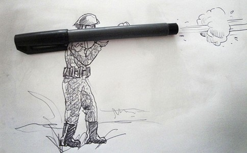 Portugese artist creates Amazing Artworks Created Using Just A Pen And Everyday Objects-17