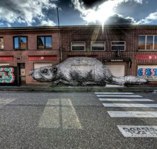An Abandoned Flemish City Becomes A Giant Canvas Dedicated To Street Art (Photo Gallery)-4