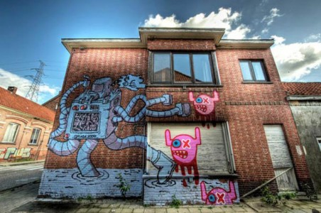 An Abandoned Flemish City Becomes A Giant Canvas Dedicated To Street Art (Photo Gallery)-7