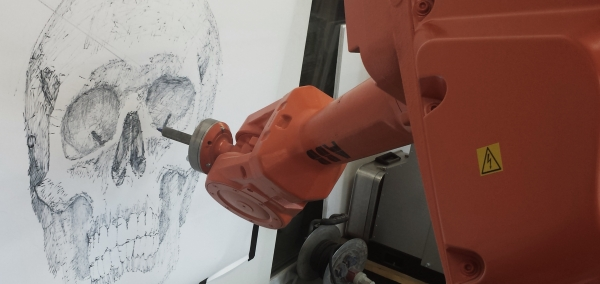 An Artist Along With Two Robots Simultaneously Draw The Same Picture Hundreds Of Miles Apart-2