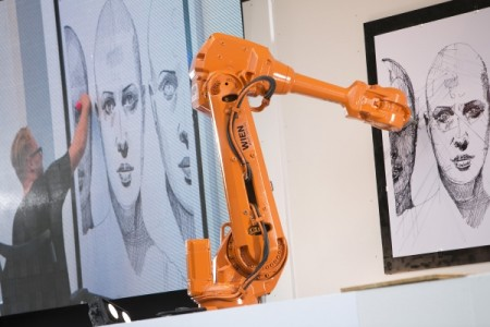 An Artist Along With Two Robots Simultaneously Draw The Same Picture Hundreds Of Miles Apart-6