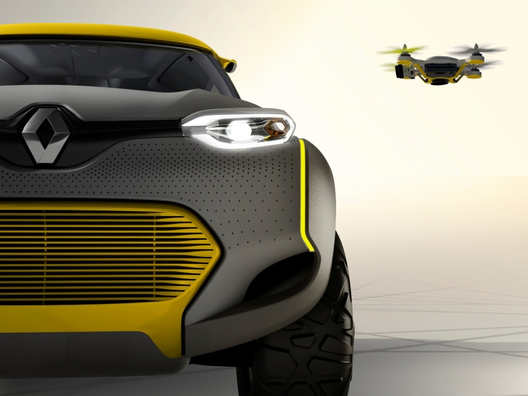 Renault Kwid Concept car Will Come With A Launchable Drone-1
