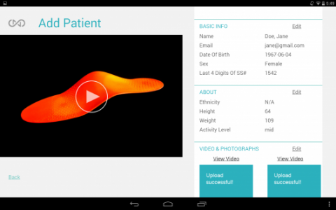Sols:  Create Customized 3D Insoles From A Scan Of Foot With Smartphone App-