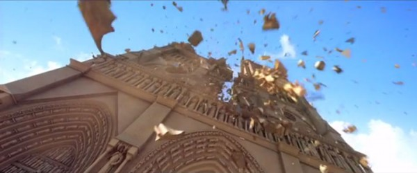 Douce Menace: An Animated Film In Which City Of Paris Is Destroyed By A Giant Pigeon-12