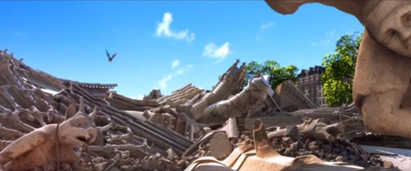 Douce Menace: An Animated Film In Which City Of Paris Is Destroyed By A Giant Pigeon-14