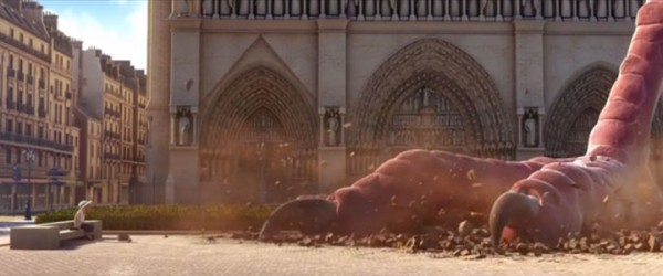 Douce Menace: An Animated Film In Which City Of Paris Is Destroyed By A Giant Pigeon-6