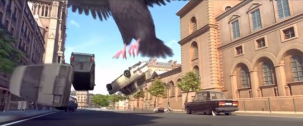 Douce Menace: An Animated Film In Which City Of Paris Is Destroyed By A Giant Pigeon-9