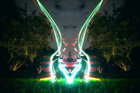 Long Exposure Photography-Examples Of Beautiful Light Painting Using Drones-3
