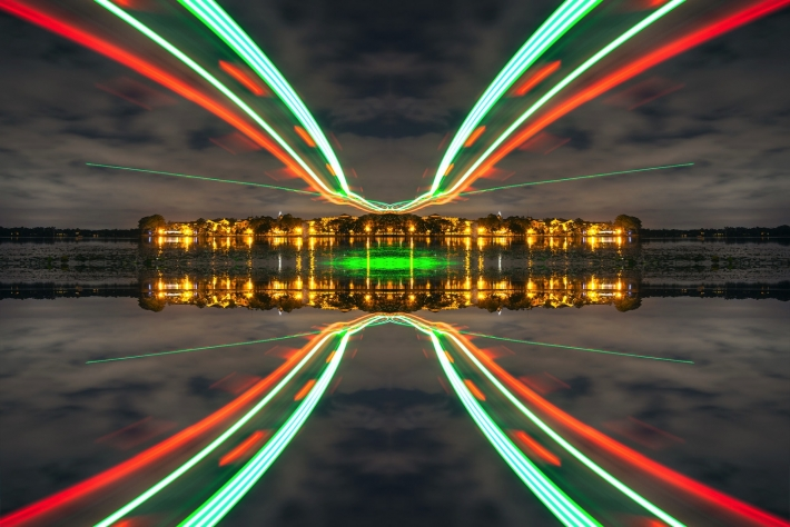 Long Exposure Photography-Examples Of Beautiful Light Painting Using Drones-4