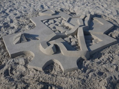 Geometric Sand Castles That Are True Architectural Masterpieces -13