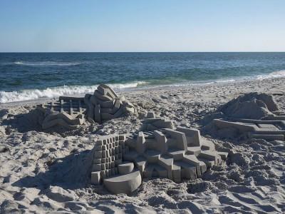 Geometric Sand Castles That Are True Architectural Masterpieces -15