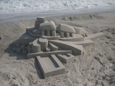 Geometric Sand Castles That Are True Architectural Masterpieces -17