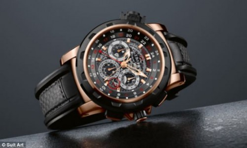 Wrist watch with suit