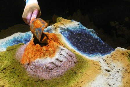 Augmented Reality Transforms A Sandbox Into Landscapes of Rivers And Volcanic Eruptions (Video)-5