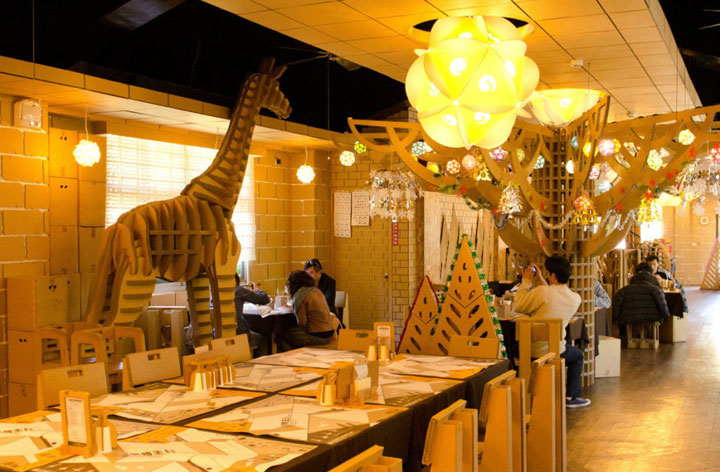 An Unusual Taiwanese Restaurant Made Entirely Of Cardboard-2