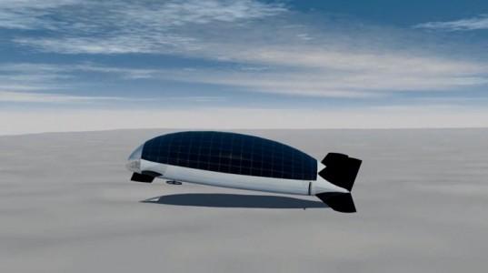 DIRISOLAR: A Futuristic Solar Powered Airship For The Family-