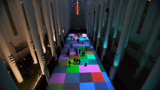 Enjoy Magical Walk On The Floor Of Sacre-Coeur Casablanca Illuminated By Thousands Of Colors-13