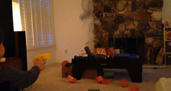 A Humorous Dad Turns Everyday Life Of His Little Boy Into A Real Action Movie (Video)-14
