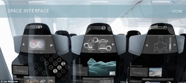 Potable seats with touchscreen LCD