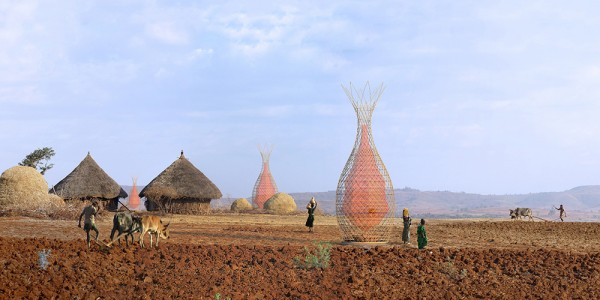 Bamboo Structure to Gather Water from Air