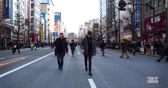 Reverse Tokyo: Imagine A World Where Everything Is Walking Reverse Except You-4