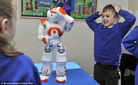 Social Skills Improved by robot teacher